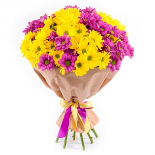 Букеты с хризантемами