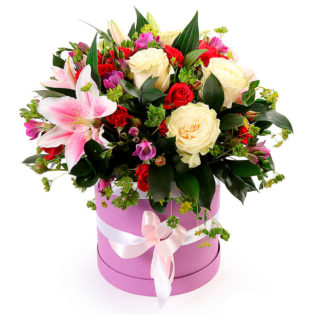 Цветы в коробке «Корона»