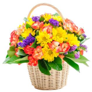 Цветы в корзинке «День радости»