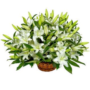 Цветы в корзинке «Вечность»